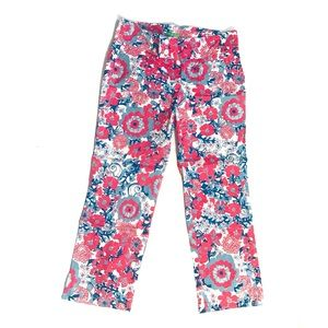 Lilly Pulitzer Blue Pink Palm Beach Fit Pants